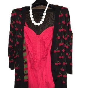 Torrid black/red cherry cardigan 2x